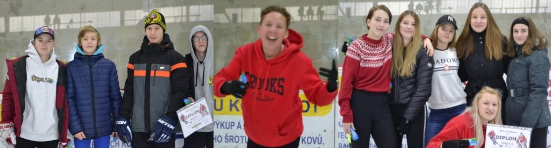 Sportování na ledě – hokejový turnaj, volné bruslení